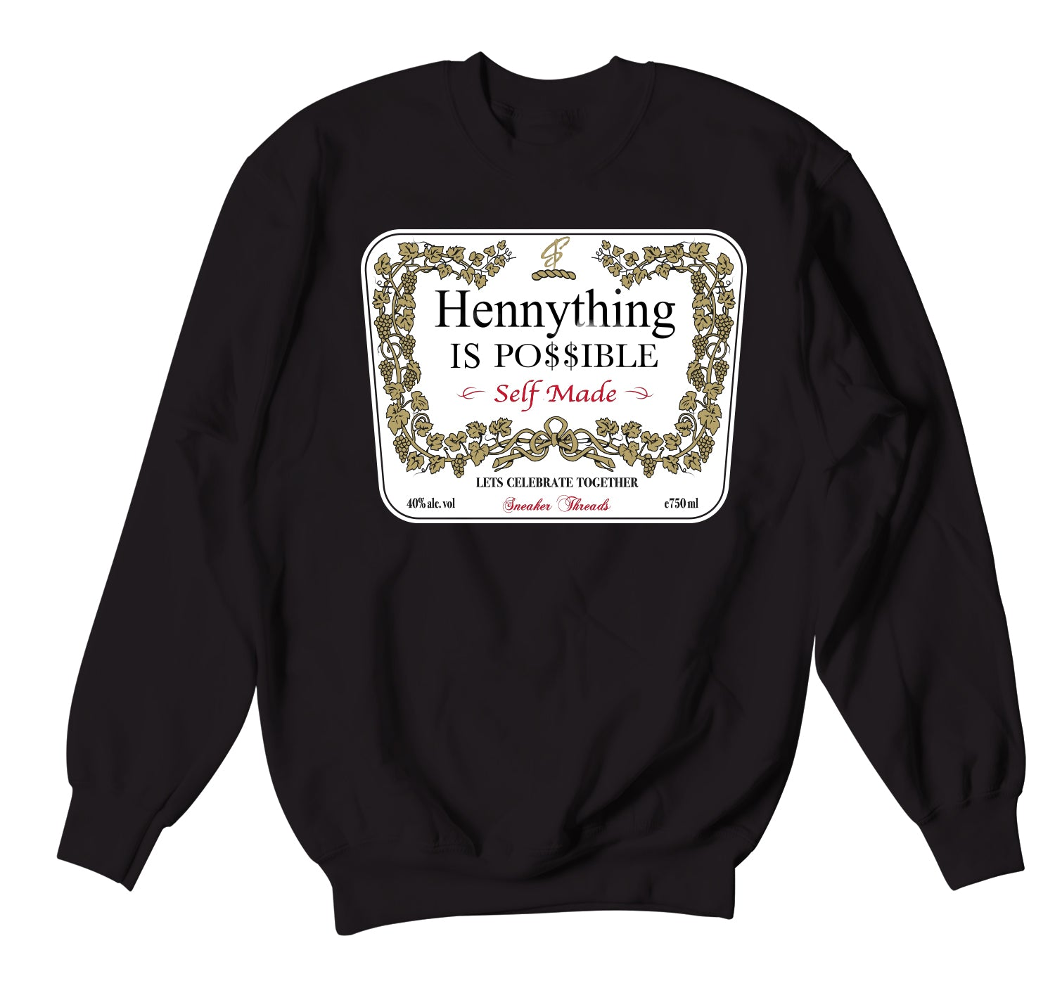 Jordan 3 Red Cement Hennything Sweater