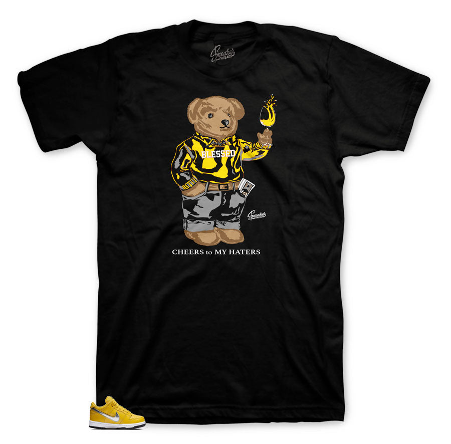 Dunk SB Canary Diamond Cheers Bear Shirt
