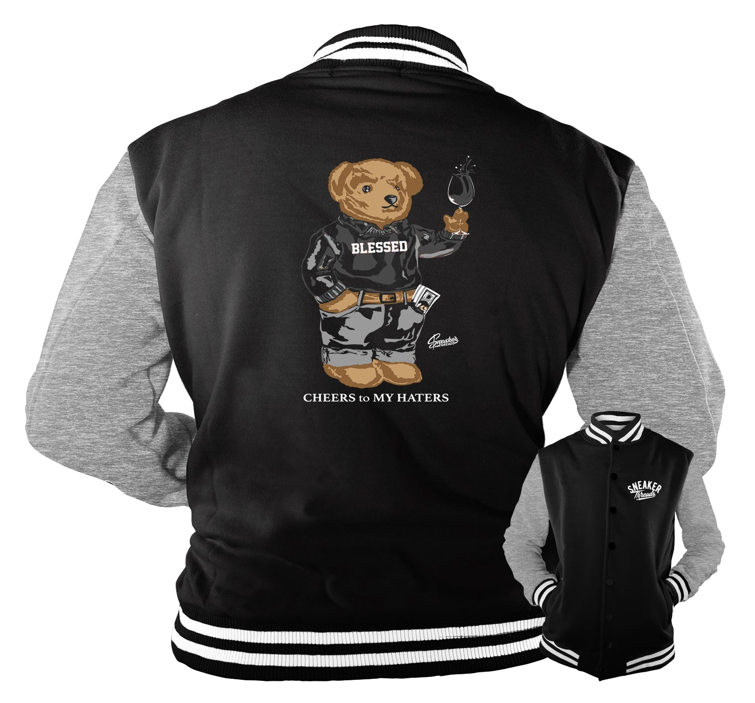 Jordan 4 Black Cat Cheers Bear Jacket