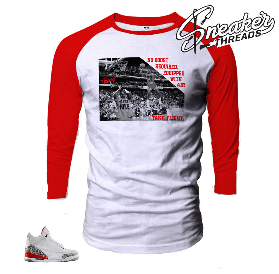 Jordan 3 katrina raglan shirt to match retro 33 hall of fame.