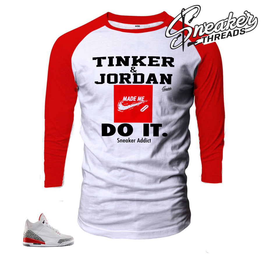 Jordan 3 katrina raglan shirt to match shoes.