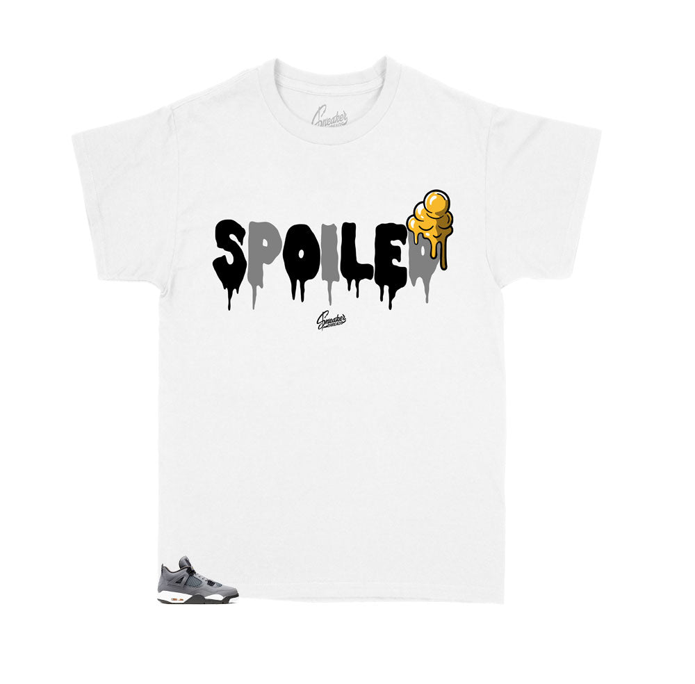 kids shirts designed to match perfectly with the Jordan Retro 4 cool grey sneakers