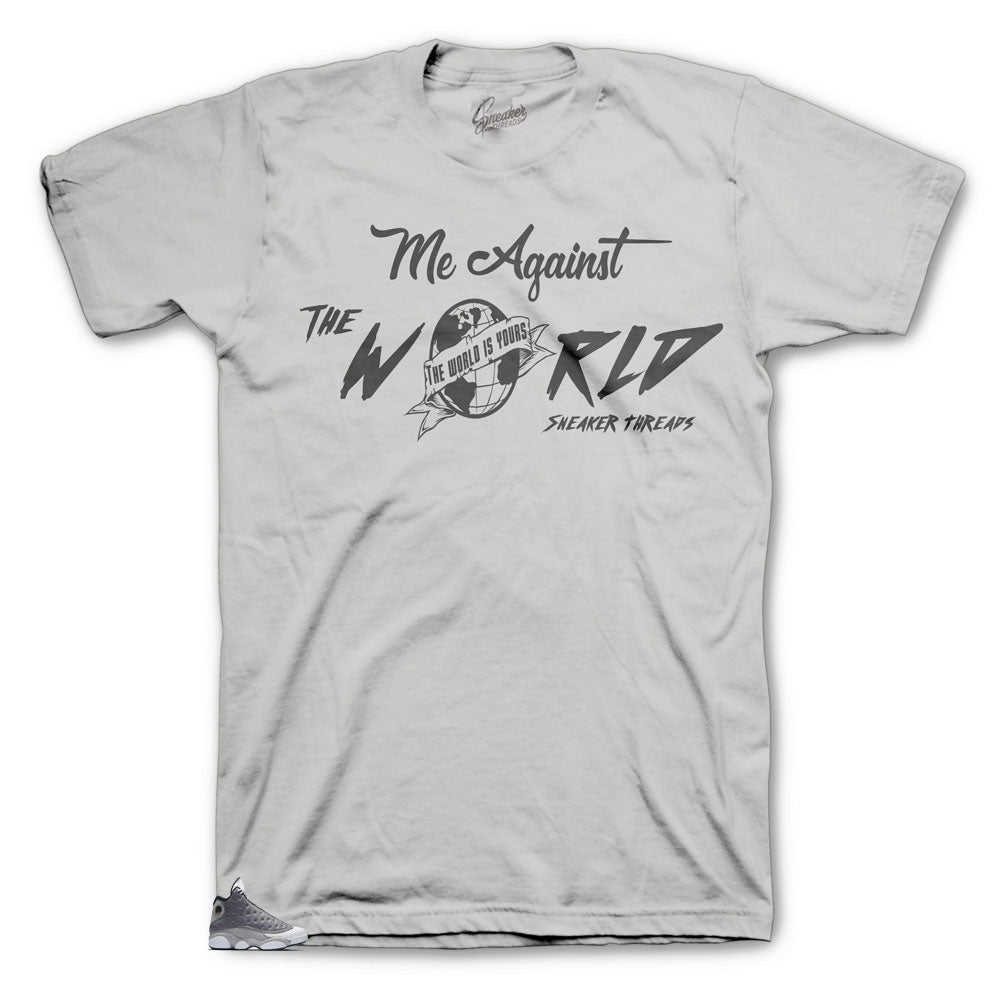 Jordan 13 Atmosphere Against the World Shirt