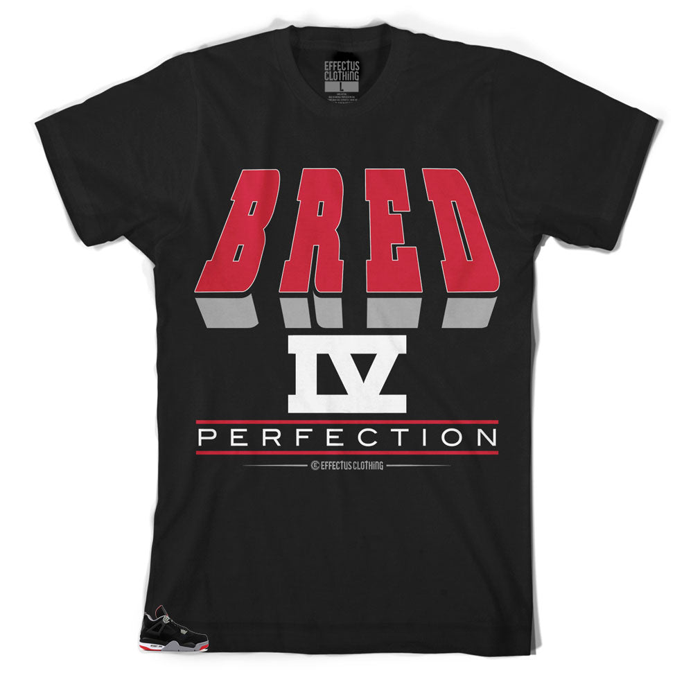 81761b580b6c Shirts made to match perfectly with the Jordan 4 Bred sneaker collection.  Shirt