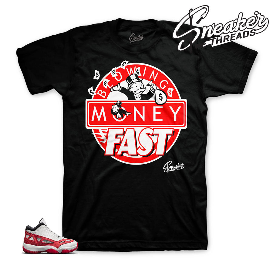 Jordan 11 IE fire red apparel | Shirts and tees match retro 11.