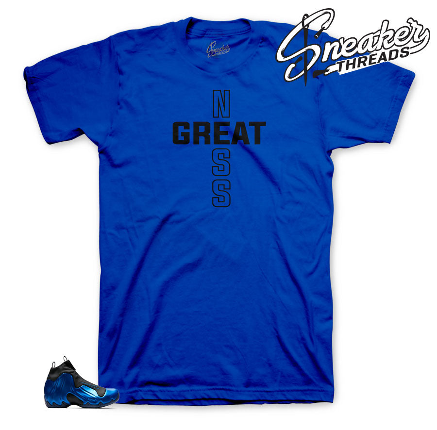 The best sneaker tees to match flightposite dark neon royal shoes.