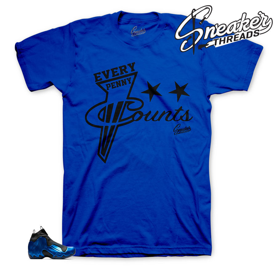 Flightposite dark neon royal sneaker tees to match shoes | sneaker tees