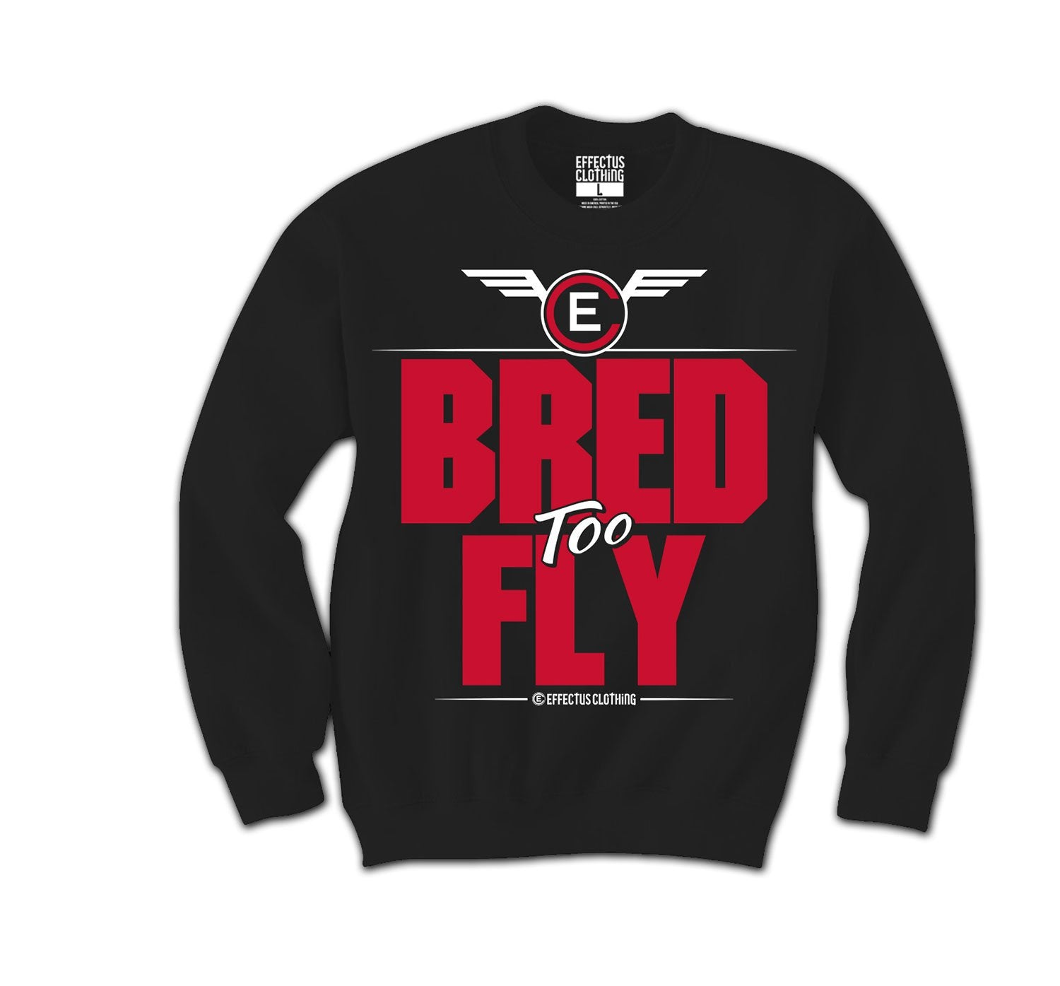 Retro 11 Bred Jordan sneakers have matching crewnecks