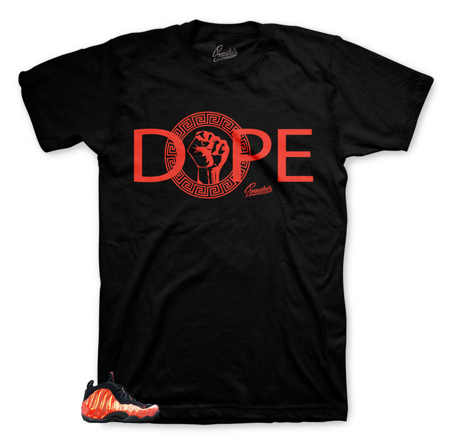 Foamposite Habanero Red Dope shirts