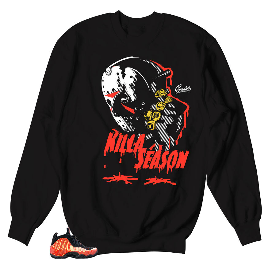Killa Sweater Season | Foamposite Habanero red
