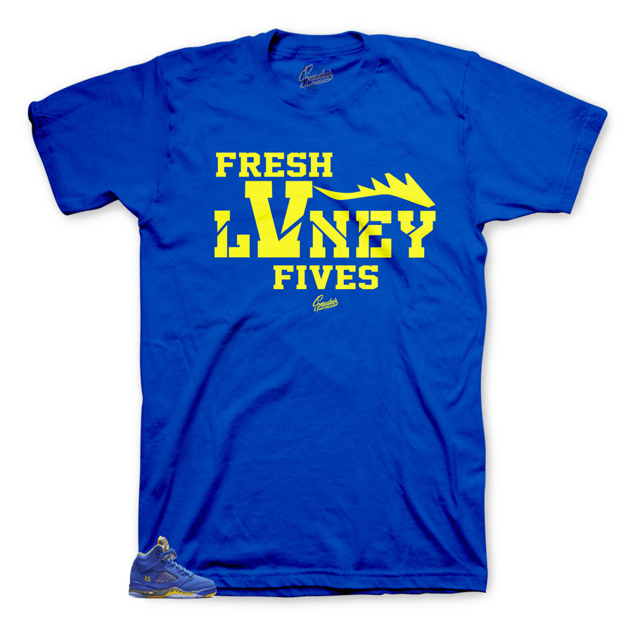 JOrdan 5 reverse Laney sneaker tees match retro 5