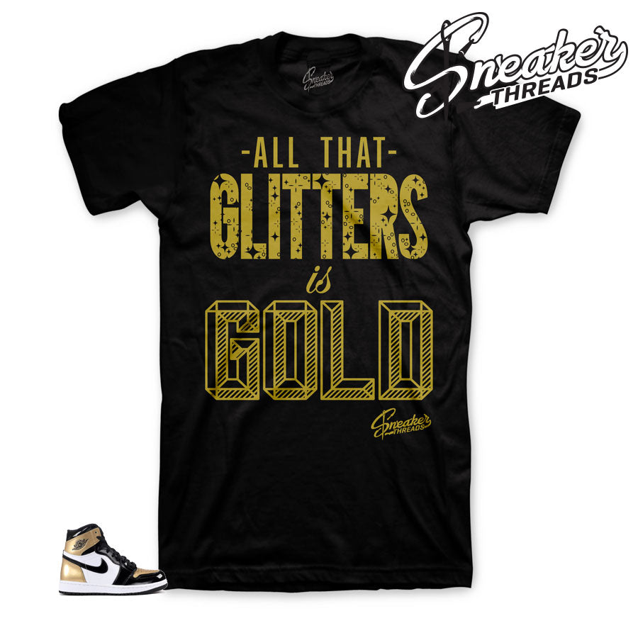 Gold toe Jordan 1 shirts match retro 1 NRG shoes | Official clothing