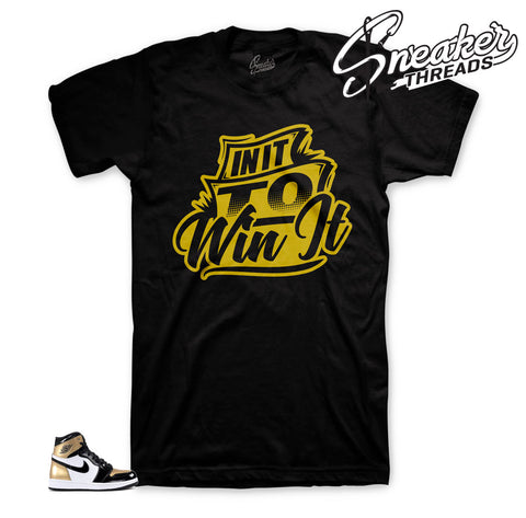 Gold toe Jordan 1 tees match retro 1 NRG sneaker shirts.