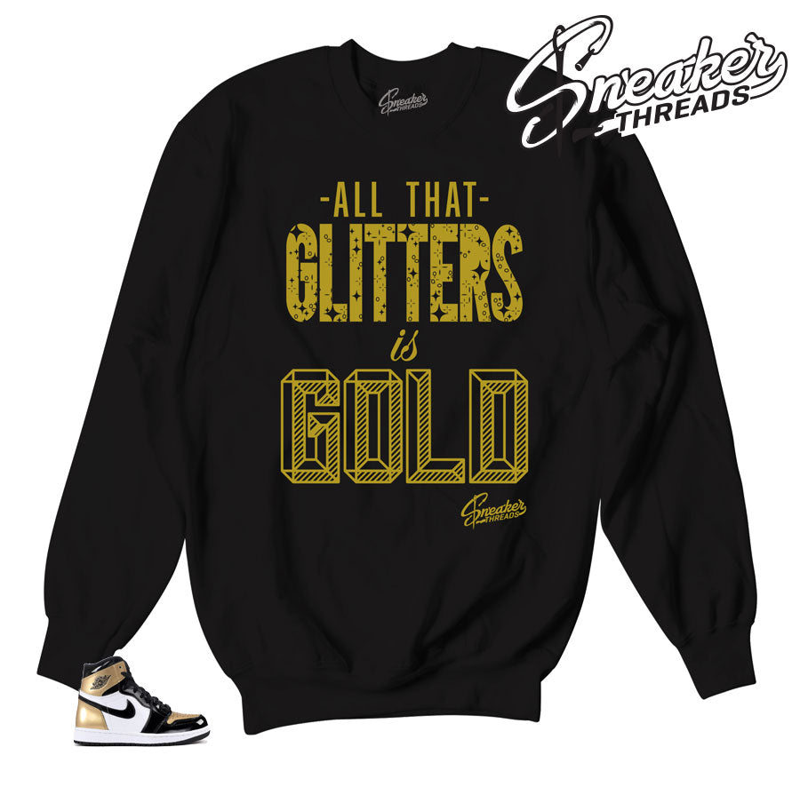 Jordan 1 NRg gold toe sweaters match retro 1 all star crewnecks.