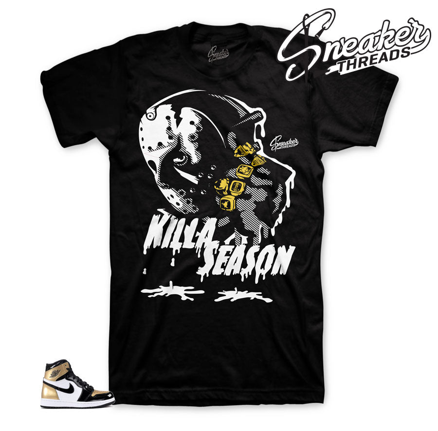 Jordan 1 NRG gold toe shirts match retro 1 OG tees.