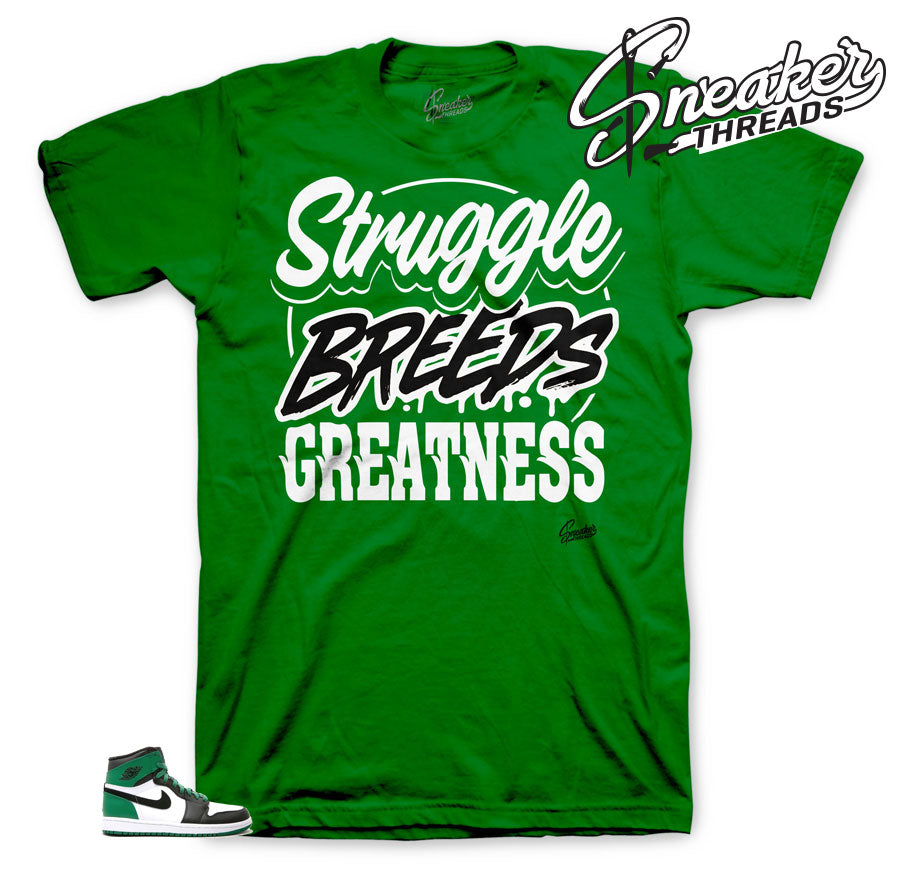 Jordan 1 Pine Green Struggle Breeds shirt