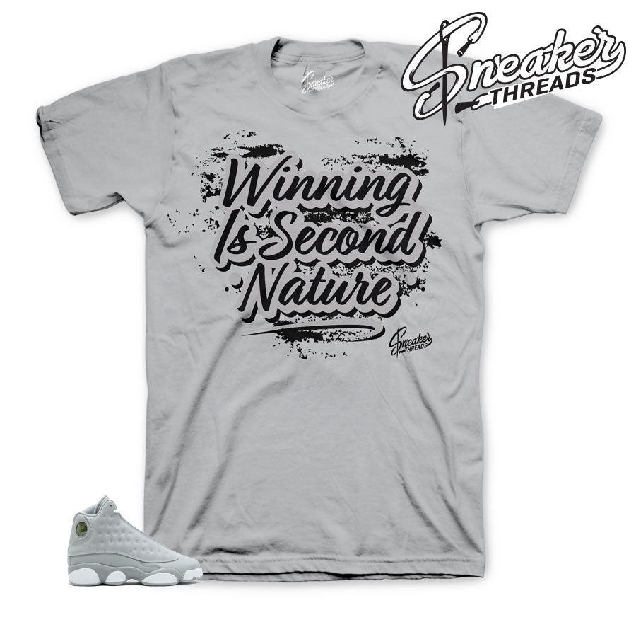 Jordan 13 wolf grey shirts match | Retro 13 sneaker tee.