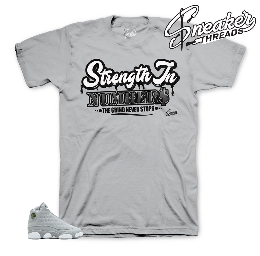 Jordan 13 wolf grey shirts match retro 8 sneaker tees.