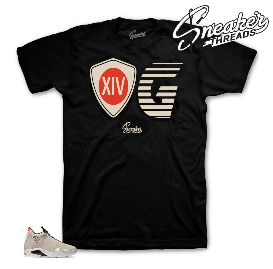 Shirts to match Jordan 14 Desert Sand Shoes.