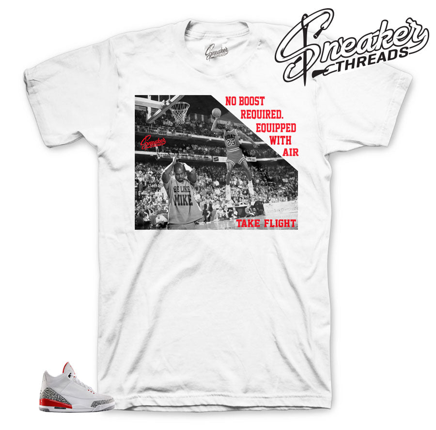 Jordan 3 katrina shirts match retro 3 hall of fame shoes.
