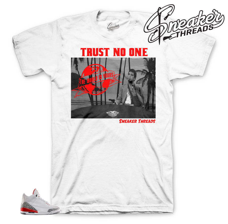 Jordan 3 hall of fame tees match retro 3 shoes and kicks.