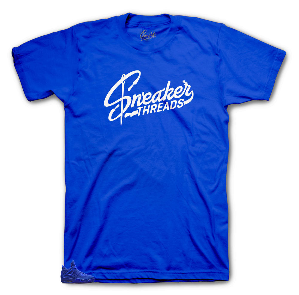Sneaker threads original tees to match Jordan 4 Royal Flyknits