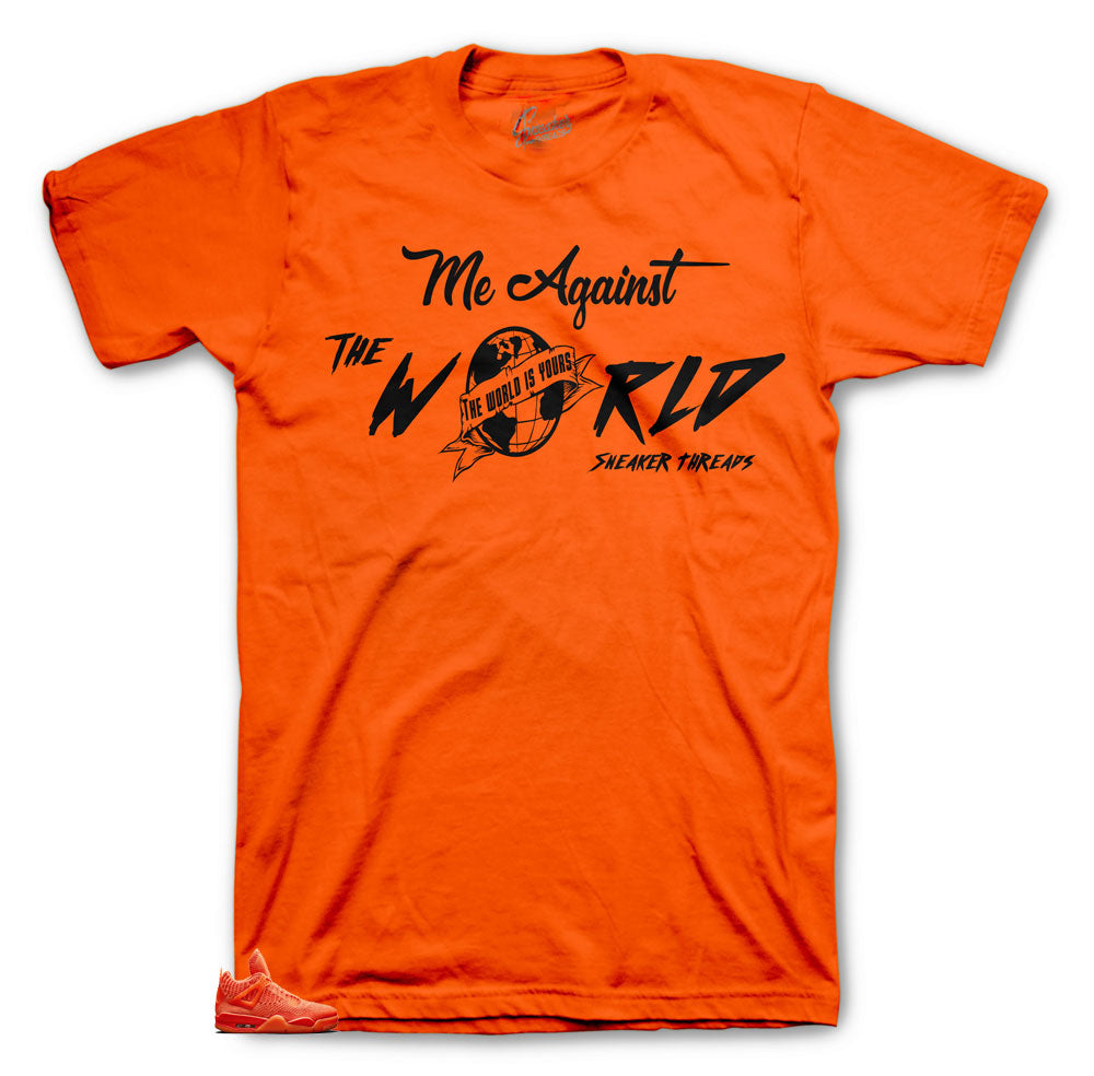 Jordan 4 range Flyjnit Against the World shirt to match
