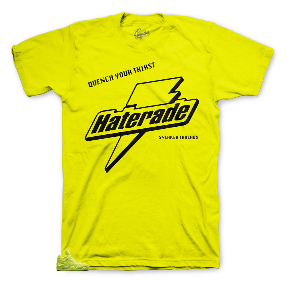 Jordan 4 Volt Haterade shirt for Flyknit Collection