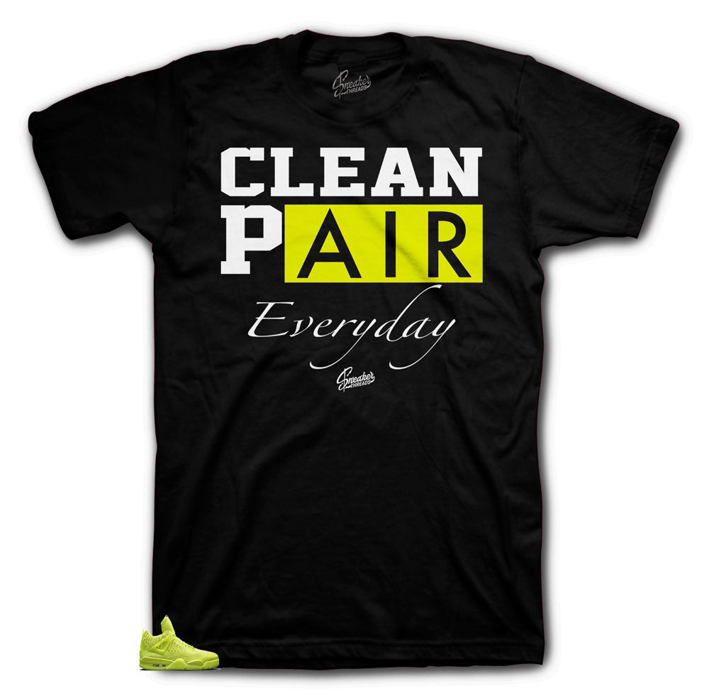 Jordan 4 Volt Flyknit Black best matching shirt