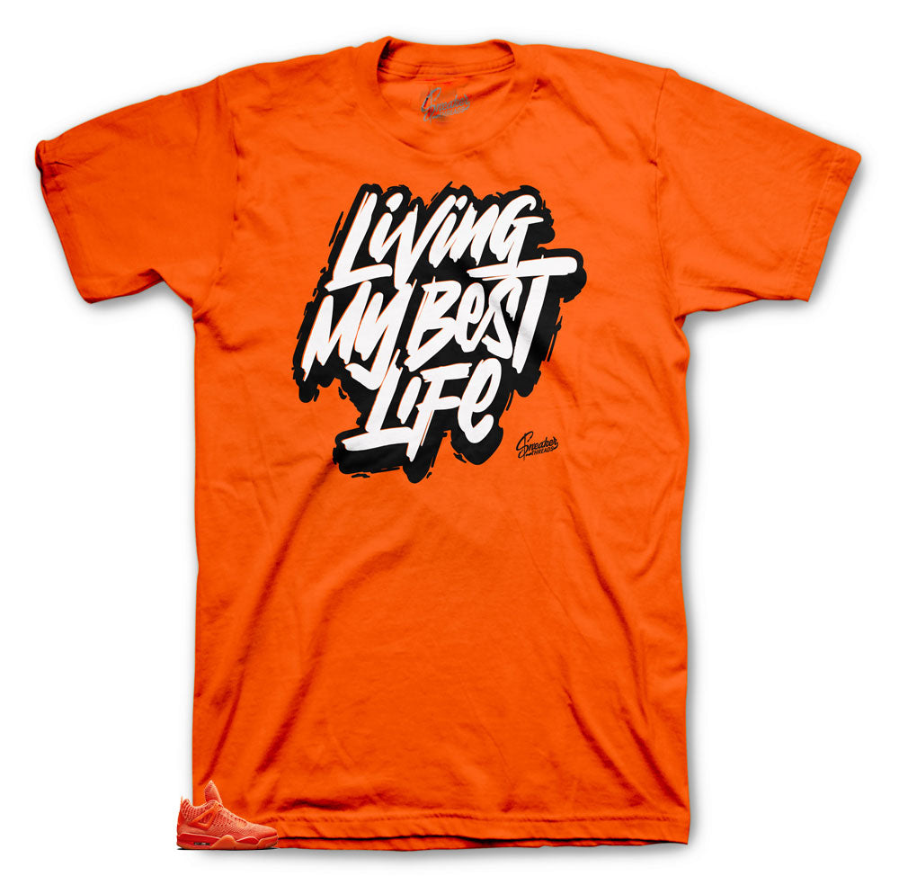 Jordan 4 Flyknit Orange Living My Best Life shirt