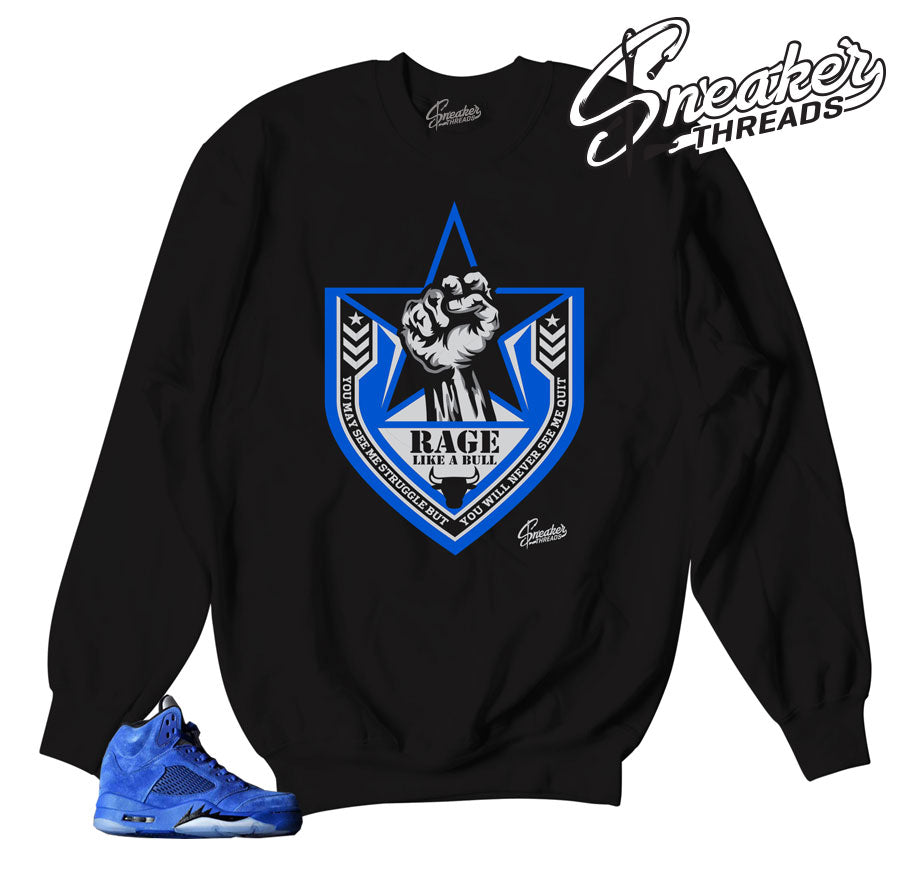 We have the best sweaters match Jordan 5 blue suede shoes.