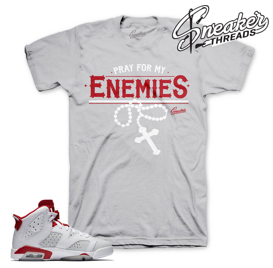 Jordan 6 alternate tee match retro 6 alternate shoes.