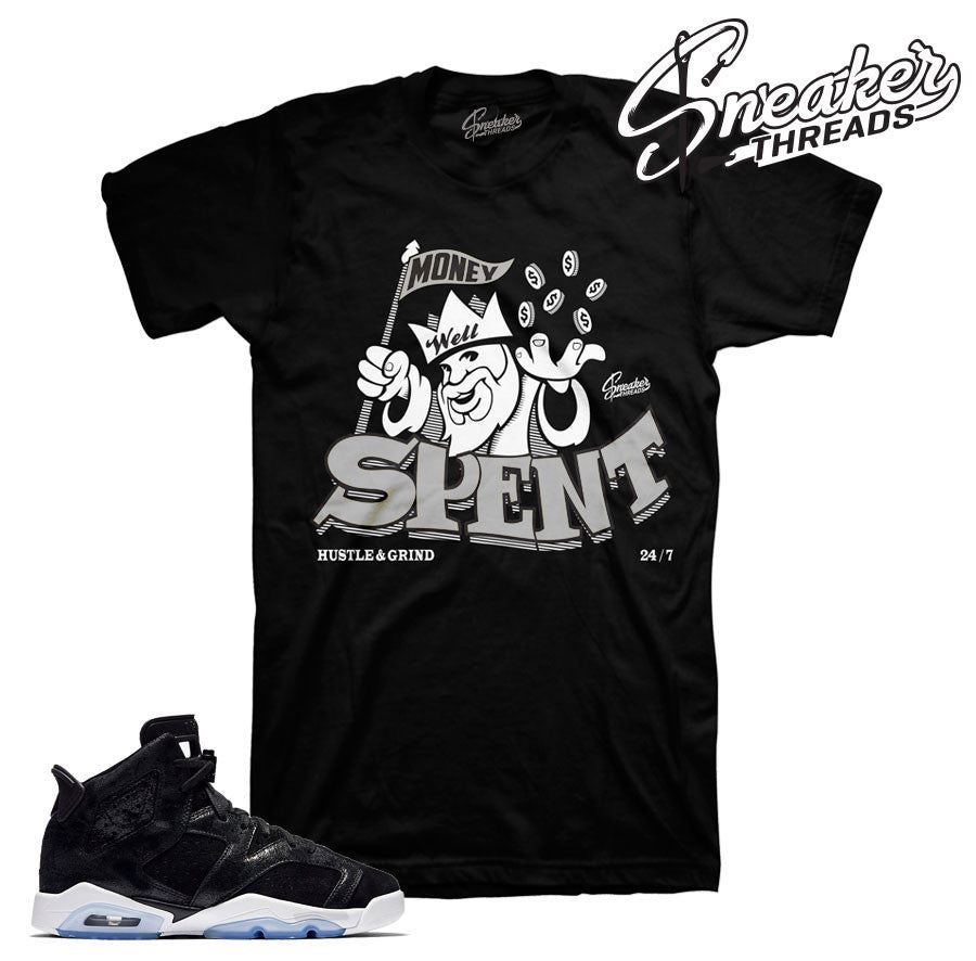 Jordan 6 heiress official matching clothing and shirts.