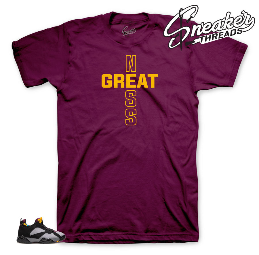 Jordan 7 Low Bordeaux Greatness shirt