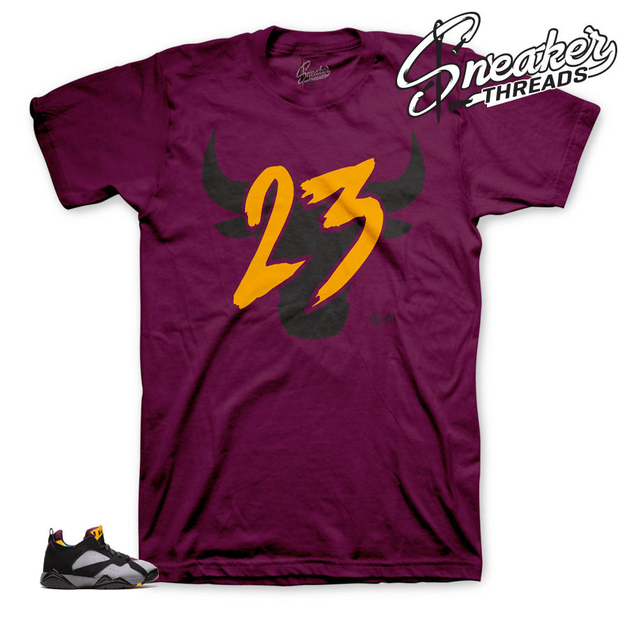 Jordan 7 Bordeaux low toro shirt
