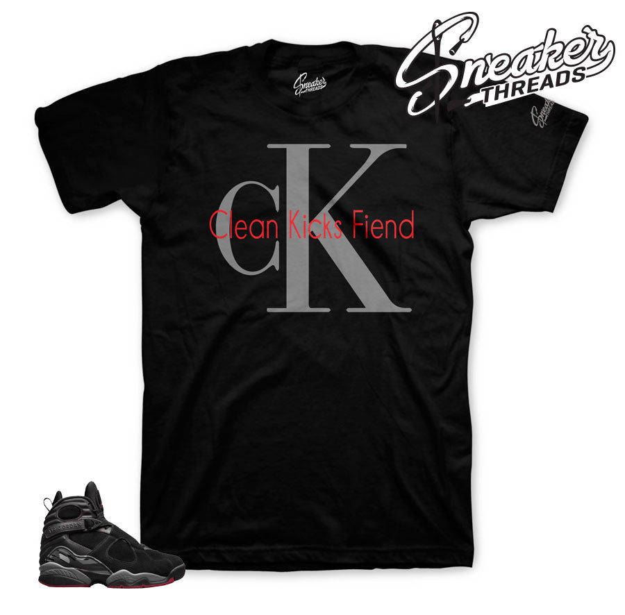 Jordan 8 cement shirts match retro 8 bred sneaker tees.