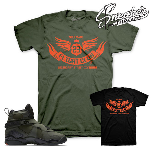 Match Jordan 8 take flight t shirts match sneakers.
