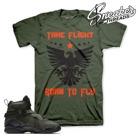 Take flight Jordan 8 shirts match retro 8 Jordan tees.