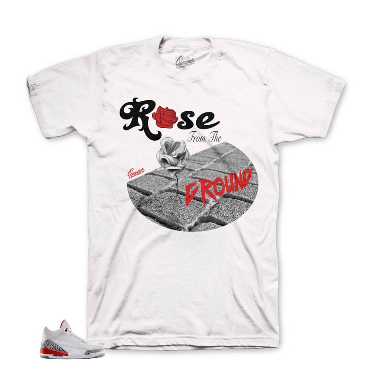 Jordan 3 Katrina Ground Rose Shirt