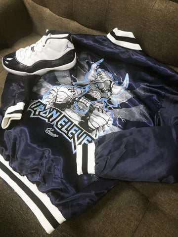 Jordan 11 win like 82 flight jacket match midnight navy 11 shoes.