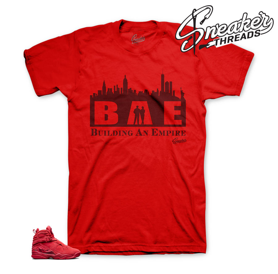 Jordan 8 valentine shirts match gym red - Way up sneaker tees.