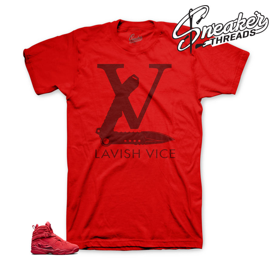 Jordan 8 valentine shirts match gym red - Bae sneaker shirts.