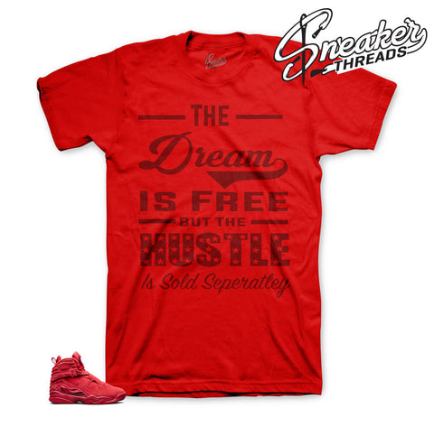 Jordan 8 valentine tees match gym red - Official tees match
