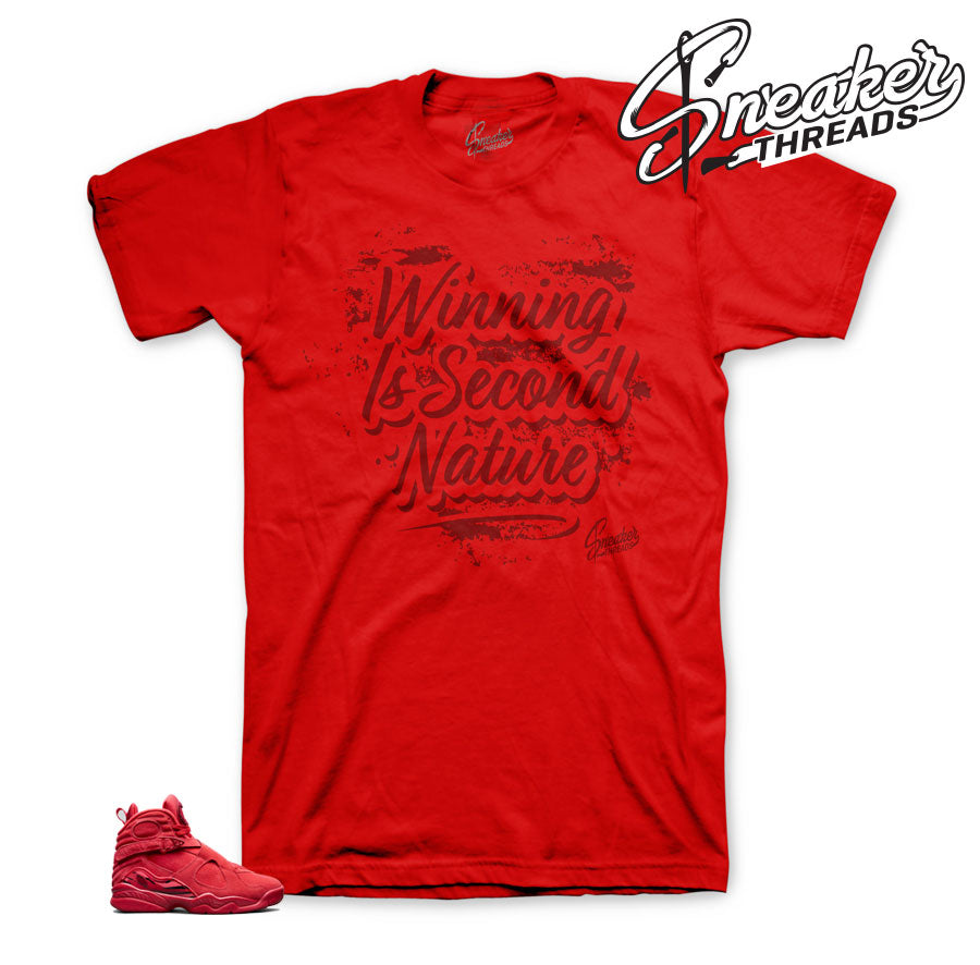 Jordan 8 valentine tees match gym red - Blessings on blessings tee.