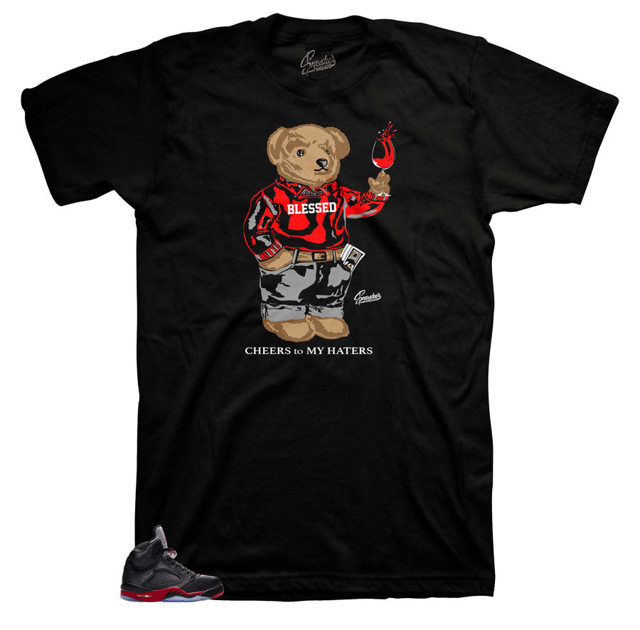Jordan 5 satin sneaker tees | cheers bear match shoes.