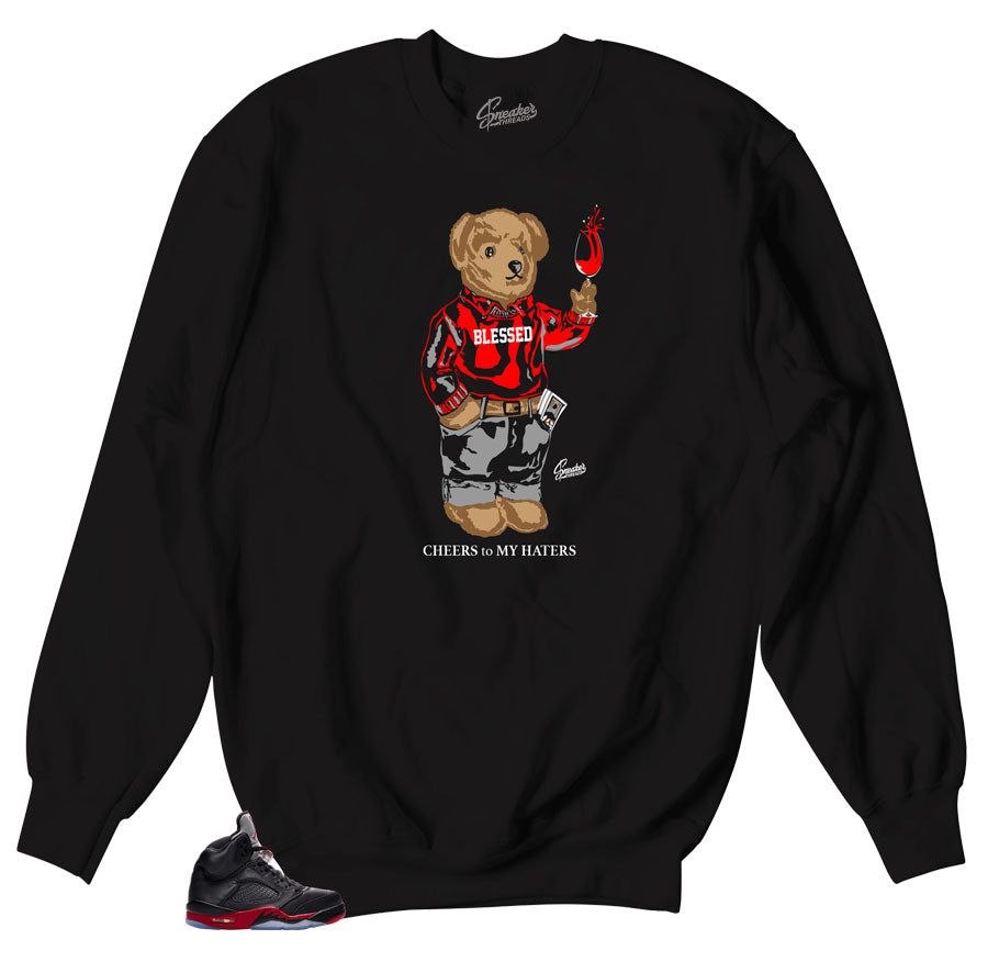 Jordan 5 satin sneaker sweater | cheers bear match shoes.