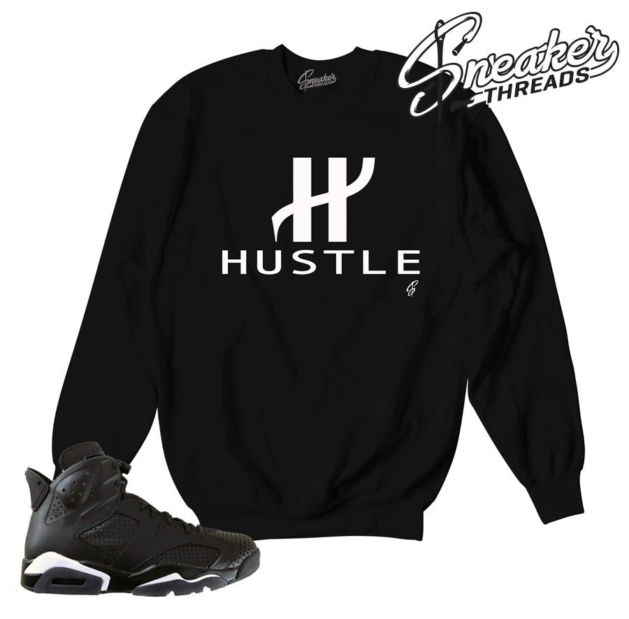 Jordan 6 black cat clothing match retro 6 black cat crewneck.