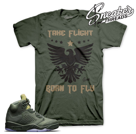 Take flight retro 5 tee match Jordan 5 sneaker clothing.