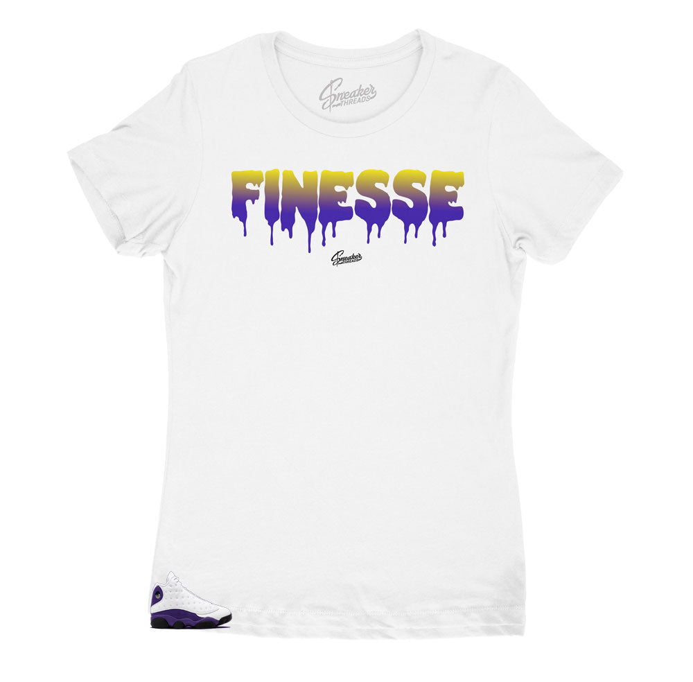 shirts to match perfectly with the Jordan 13 lakers shoe collection