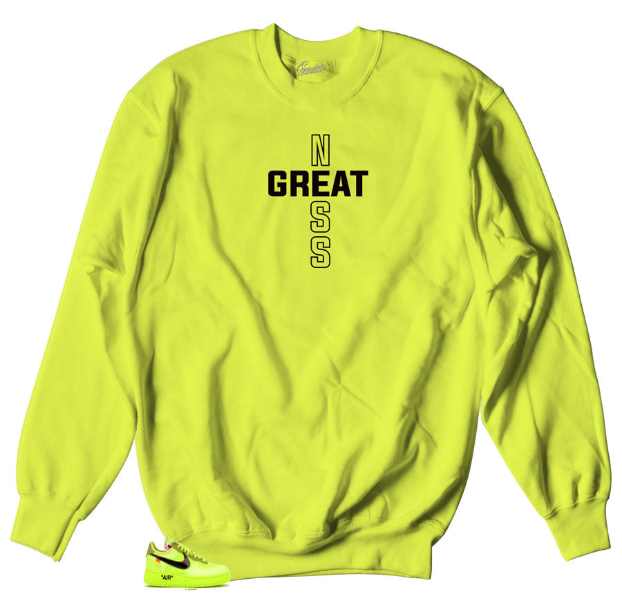 Air Force One The 10 Sneaker matching Volt Sweater made to match Sneaker Air Force One the10